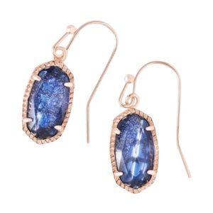 Kendra Scott Navy Dusted Glass Lee Earrings